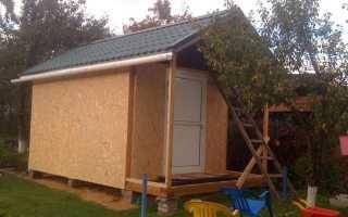 Сарай из дерева размер 10 на 5 с двухскатной крышей