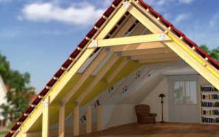 Как сделать двухскатную крышу для мансарды