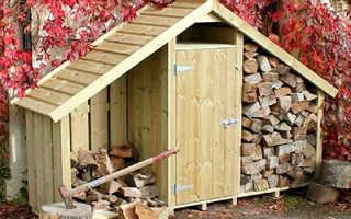 Сарай для дров с односкатной крышей