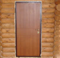 Чем крепить металлическую дверь в деревянном доме