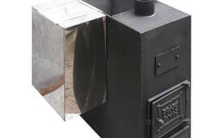 Баня как установить печь и бак для горячей воды видео
