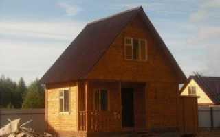 Как сделать красивый дачный домик с мансардой
