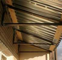 Крыша балкона своими руками пошаговая инструкция