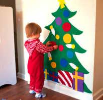 Как сделать елку из фетра своими руками на стене