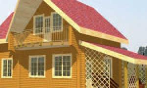 Балкон над эркером в деревянном доме как сделать