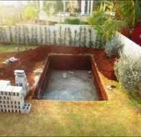 Из чего можно сделать бассейн для дачи