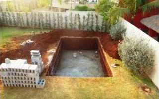 Из чего лучше сделать бассейн на участке