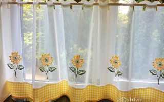 Шторки кафе на окна своими руками