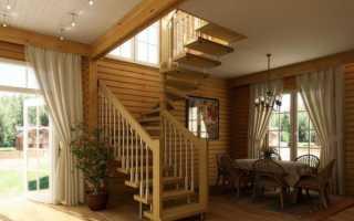 Винтовая лестница в деревянном доме своими руками