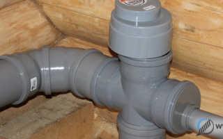 Вентиляционный клапан для канализации 110 мм леруа мерлен