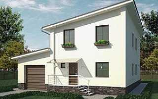 Одноэтажный дом с мансардой односкатная крыша