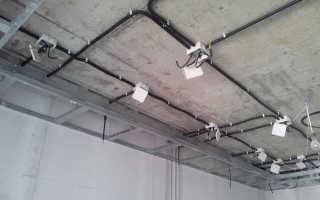 Электрика в квартире по потолку своими руками