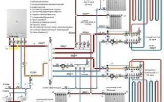 Схема подключение теплого пола к двухтрубной системе отопления