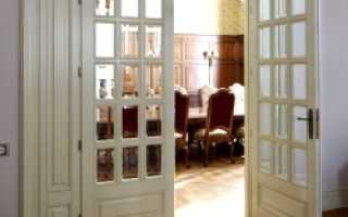 Установка двухстворчатых дверей своими руками