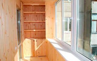 Балкон вагонкой со шкафом своими руками