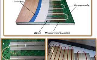 Сухая установка теплого пола по деревянному полу