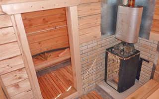 Сделать печь из чугуна для бани