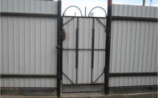Ворота из металла без сварки