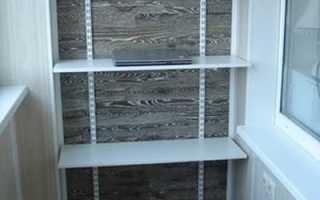 Деревянный стеллаж на балкон своими руками чертежи