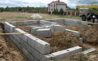 Фундаменты домов из пенобетона своими руками
