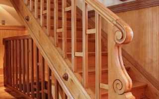 Винтовая лестница из бревна своими руками