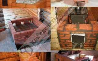 Строительство кирпичной печи в русской бане