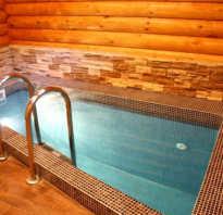 Из чего можно сделать бассейн в баню