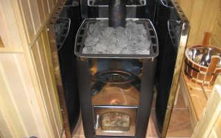 Стальные дровяные печи для бани