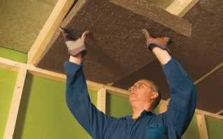 Шумоизоляция потолка в деревянном доме своими руками