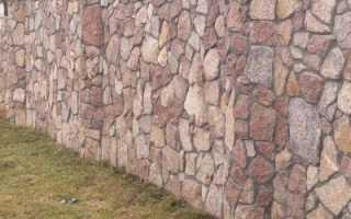 Как дешево сделать забор из камня