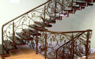 Как сделать лестницу из железа в доме своими руками