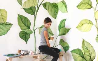 Нарисовать рисунок на стене в квартире своими руками