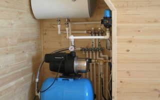 Водопровод зимой в бане как сделать