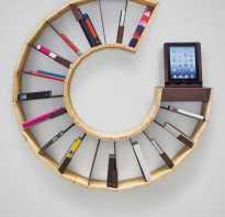 Книжные полки на стену своими руками фото