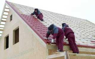 Баня как сделать крышу из металлочерепицы