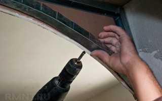 Как сделать арку в стене из гипсокартона своими руками