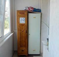 Шкаф для балкона из профиля своими руками