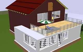 Балкон над террасой в частном доме своими руками