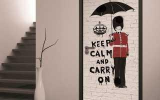 Рисунки на дверях и стенах своими руками