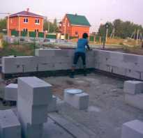 Фундамент своими руками под дом пеноблок