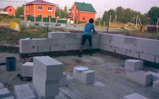Фундамент своими руками стены из пеноблока