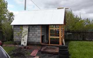 Баня из шлакоблока от фундамента до крыши