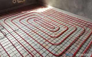 Схема для теплого водяного пола змейкой