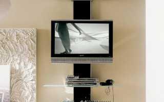 Полка под телевизор на стену из дерева своими руками