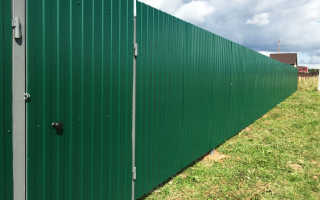 Забор из профлиста сборка без применения сварки