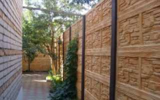 Как дешево покрасить бетонный забор