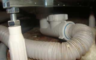 Гофра труба для канализации в ванной
