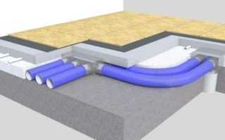 Устройство вентиляции под полом в деревянном доме
