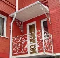 Козырек над балконом последнего этажа своими руками