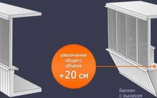 Как сделать выносную раму на балконе